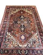 Vintage handgeknoopt Oosters Heriz tapijt
