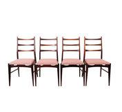 Set vintage stoelen opnieuw gestoffeerd