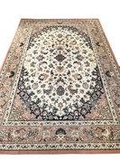 Vintage wollen tapijt pastelkleurig