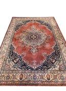 GERESERVEERD/ Vintage wollen tapijt oud-roze 2x3