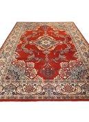 Vintage wollen tapijt rood 2x3