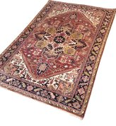 Vintage handgeknoopt Heriz tapijt