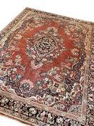 Groot vintage Perzisch tapijt handgeknoopt