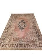 Vintage oud roze wollen tapijt 2x3