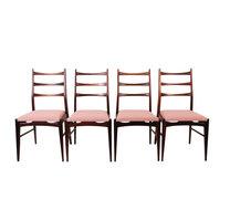VERKOCHT Set vintage stoelen opnieuw gestoffeerd