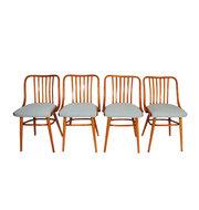 GERESERVEERD Set Thonet Ligna stoelen opnieuw gestoffeerd