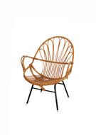 VERKOCHT Vintage Rohé Noordwolde rotan stoel