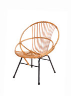 GERESERVEERD Vintage rotan Rohe stoel