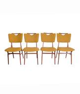 VERKOCHT Vintage set stoelen opnieuw gestoffeerd