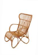 Vintage rotan Rohé fauteuil