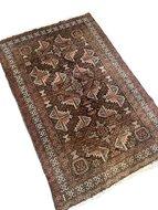 Vintage handgeknoopt Oosters tapijt