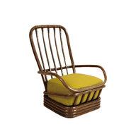 Vintage rotan manou stoel